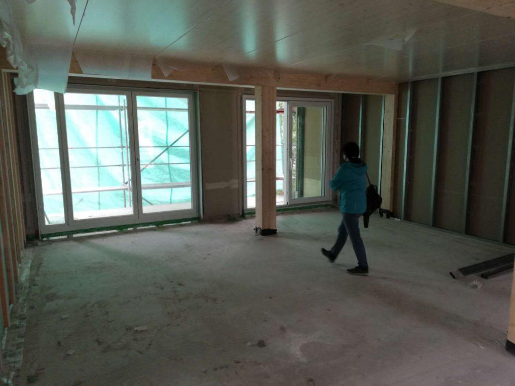 Wohnzimmer Essbereich Bau